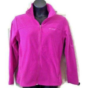 Columbia Womens Fleece Jacket large bright Pink